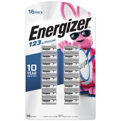 Energizer 123 Lithium Photo Batteries- 16 Pack