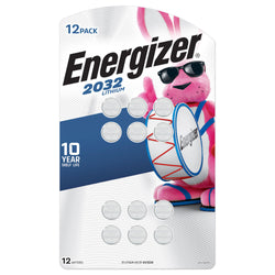 Energizer 2032 Lithium Coin Battery, 12-Pack