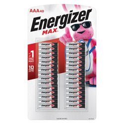 Energizer MAX Alkaline AAA Batteries, 40-Pack