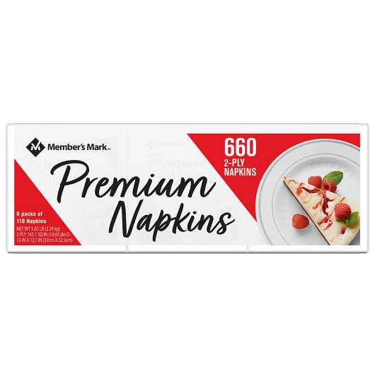 Everyday Premium  Napkins, (comparable to Vanity Fair)2-Ply (660 ct.)