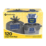 33 gal. Power-Guard Simple Tie Trash Bags (120 ct.)