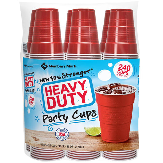Heavy-Duty Red Cups (18 oz., 240 ct.)
