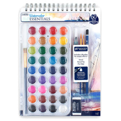 ArtSkills Watercolor Paint Essentials Complete Set, 44 Pcs