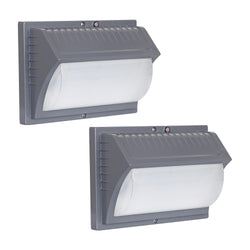 Honeywell LED Rectangular Security Light (2 Pk., Titanium Gray)