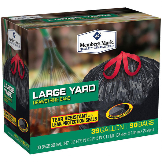 39 Gallon Power-Guard Yard Drawstring Trash Bags (90 ct.)