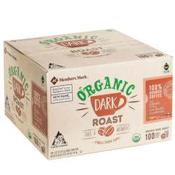 Organic Dark Roast Coffee (100 single-serve cups)