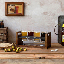 Beer Flight Set with Glasses (5-7 Day Delivery)
