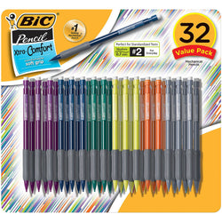 BIC - Matic Grip Mechanical Pencil, HB #2, 0.7mm - 32 Pencils