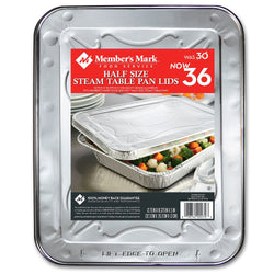 Aluminum Steam Table Lids, Half Size (36 ct.)