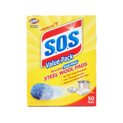 Clorox S.O.S Steel Wool Pads 50 Count