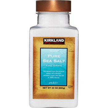 Kirkland Fine Grain Pure Sea Salt, 30 oz
