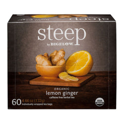 Bigelow Organic Steep Lemon Ginger Tea (60 ct.)