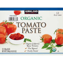 Kirkland Signature Organic Tomato Paste, 6 oz, 12 ct