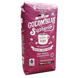Colombian Supremo Fair Trade Certified, Whole Bean Coffee (40 oz.)