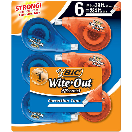 BIC Wite-Out EZ Correction Tape - 6 pk.
