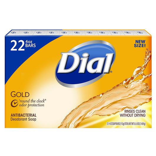 Dial Antibacterial Deodorant Soap, Gold (4 oz., 22 ct.)