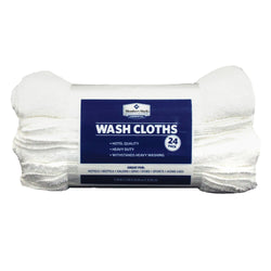 Commercial Washcloth, White (Set of 24)