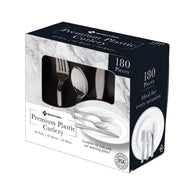 Premium Silver-Look Cutlery Combo (180 ct.)