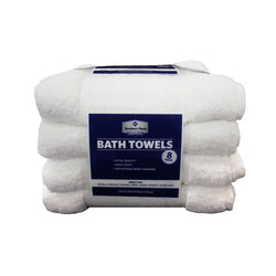 Commercial Bath Towels, White (Set of 8)