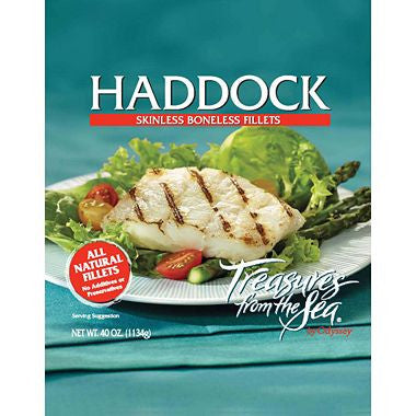 Treasures from the Sea Haddock Fillets (40 oz.)