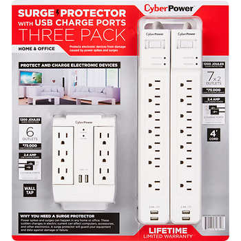 Cyberpower Surge Protector, 3 Pack