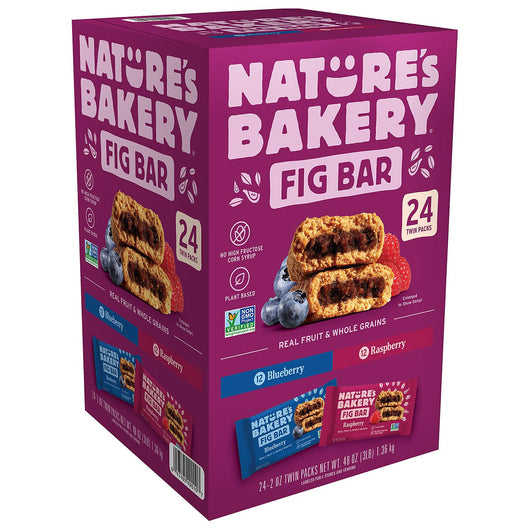 Nature's Bakery Fig Bar, Variety Pack (2 oz., 24 pks.)
