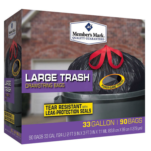33 Gallon Power-Guard Drawstring Trash (90 ct.)