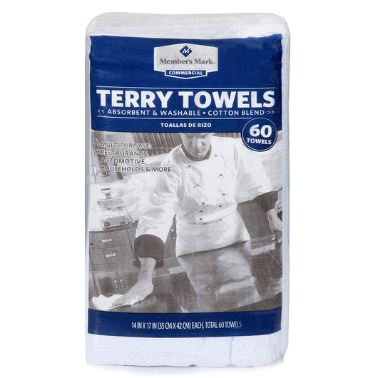 Terry Towels, 60 Pack