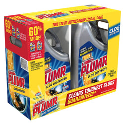 Liquid-Plumr Full Clog Destroyer, Pro-Strength, 2 pk., 128 oz. Bottles
