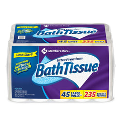 Ultra Premium Bath Tissue, 2-Ply Large Roll (235 sheets, 45 rolls)