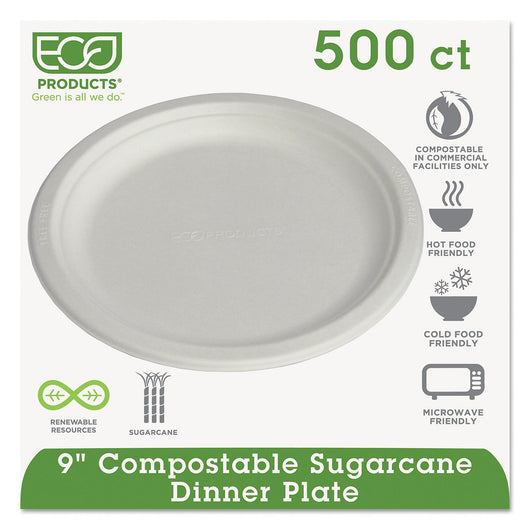 Eco-Products Compostable Dinner Plate, 9