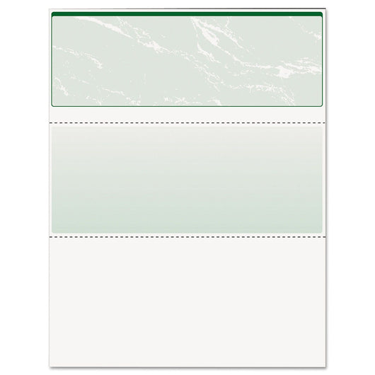 Docuguard - Standard Security Check, Green Marble, Top, 24 lb, Letter - 500/Ream