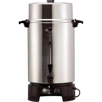 West Bend Polished Aluminum 100-Cup Coffee Urn