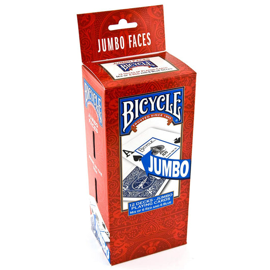 Bicycle Jumbo Faces Playing Cards - 12 pks.