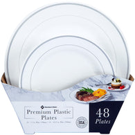 Premium Plastic Heavyweight Plates, Combo Pack (48 ct.)