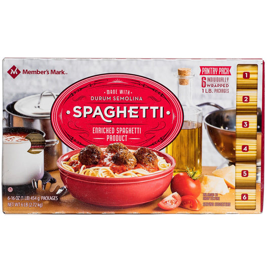 Spaghetti Pantry Pack (1 lb. ea, 6 ct.)