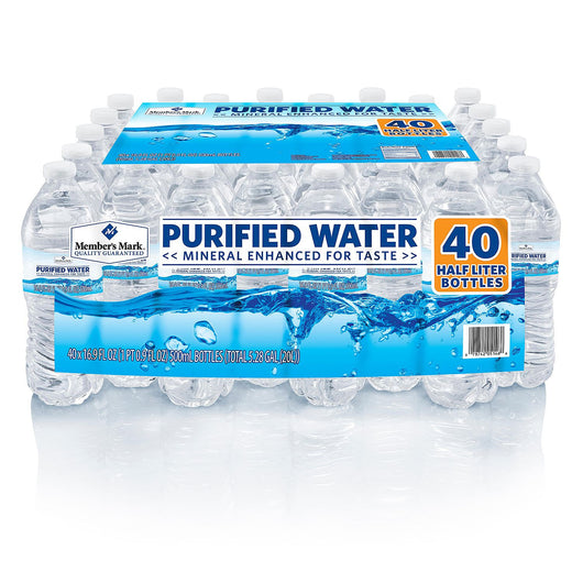 Purified Bottled Water (16.9 oz. bottles, 40 pk.)