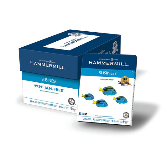 Hammermill Business Copy Paper, 20lb, 92 Bright, 8 1/2
