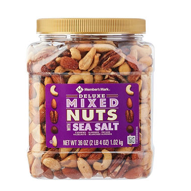 Deluxe Roasted Mixed Nuts with Sea Salt (36 oz.)
