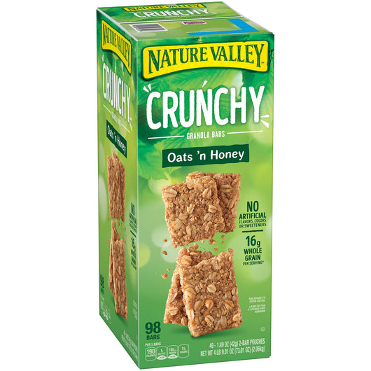 Nature Valley Oats 'n Honey Crunchy Granola Bars (0.75 oz., 98 pk.)