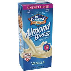 Almond Breeze Unsweetened Vanilla Almond Milk, 32 oz, 6 ct