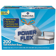 Power Flex Tall Kitchen Simple Fit Drawstring Bags (13 gal., 200 ct.)