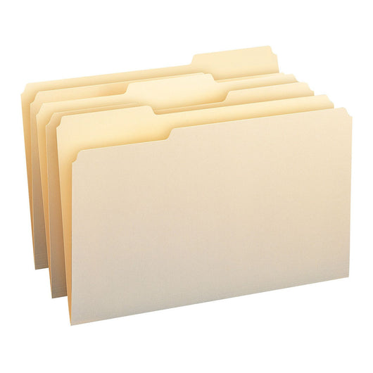 Smead 1/3 Cut Assorted Positions File Folders, Legal, Manila, 150ct.