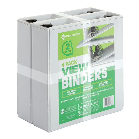 View Binder, D Ring, White, 2