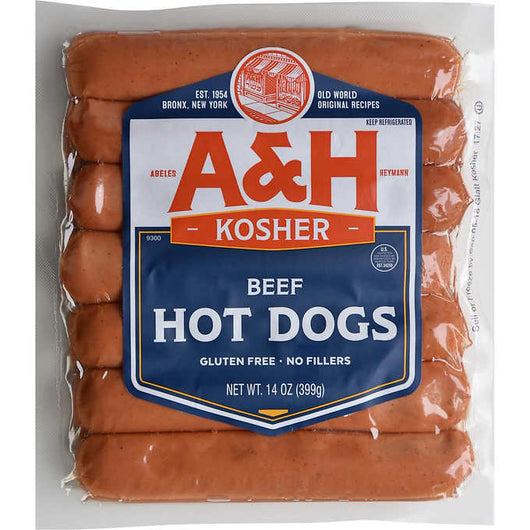 Abeles & Heymann Beef Hot Dogs, 14 oz, 4 ct