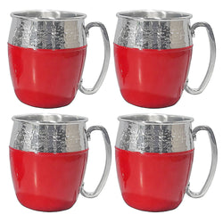 Hammered Mule Mugs, 4 Pack (Assorted Colors)