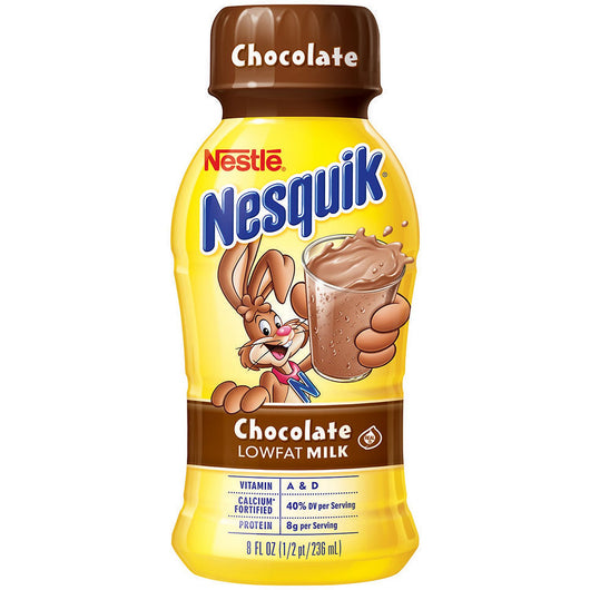 Nestle Nesquik Chocolate Lowfat Milk (8 oz. bottles, 15 pk.)