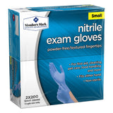 Nitrile Exam Gloves (Assorted Sizes), 200 ct x 2