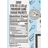 Premium Cane Sugar (2,000 packets, 12.5 lbs.)