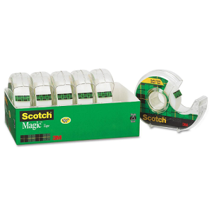 "Scotch® Magic Tape with Refillable Dispenser, ¾"" x 850"", 6 Rolls"
